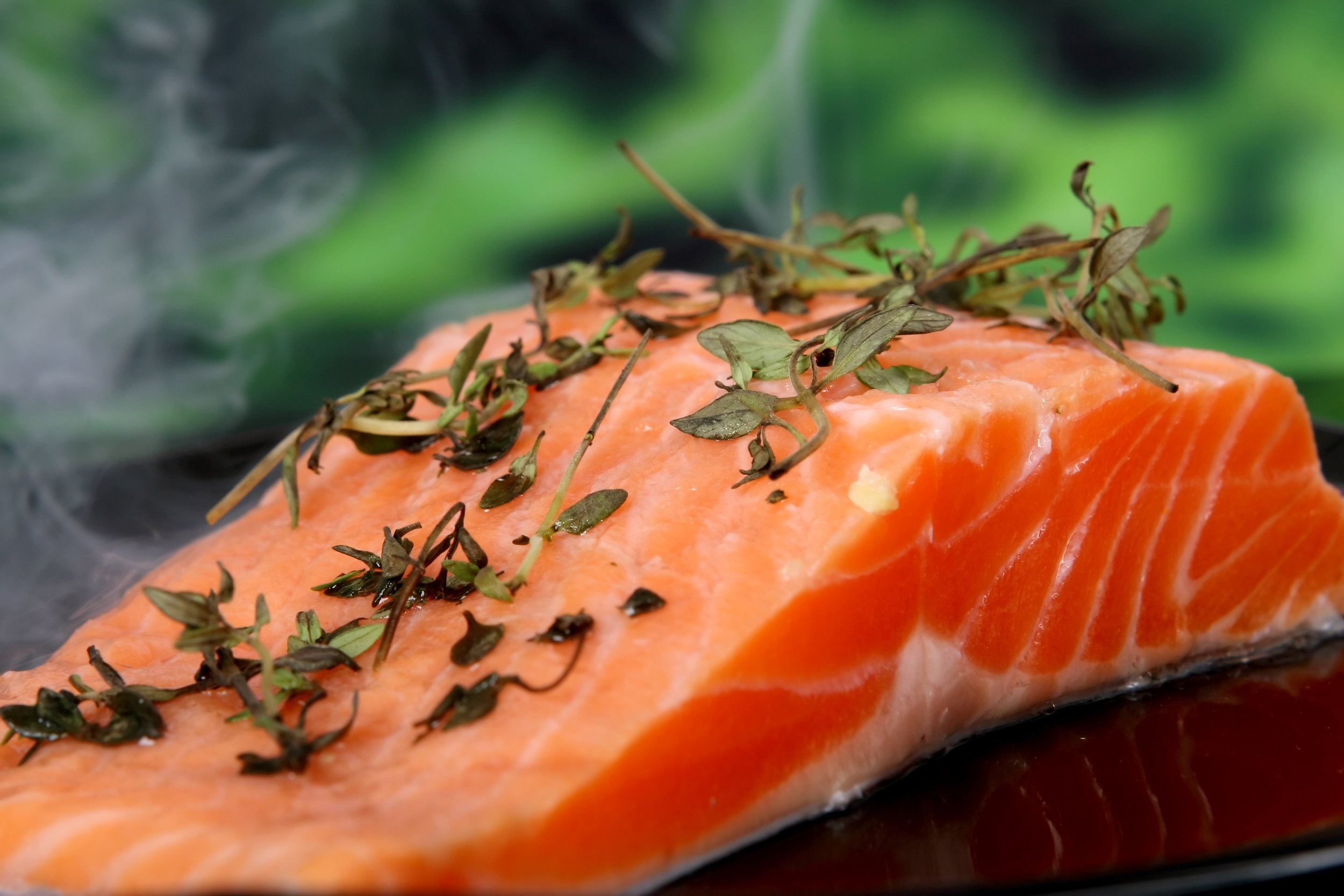 Cold water fish such as salmon are a great source of omega-3 fatty acids.