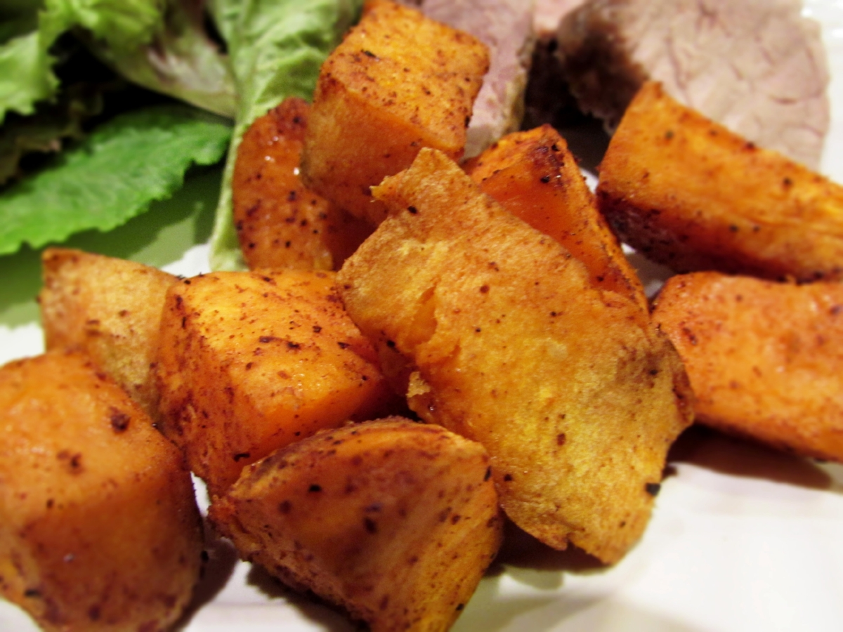 Chili Dusted Sweet Potatoes