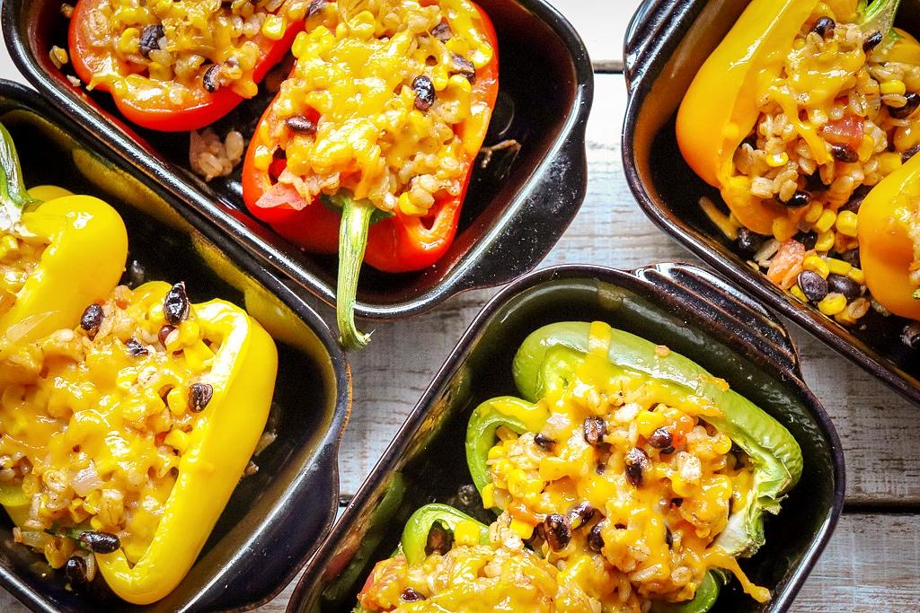 Mexican Barley Stuffed Peppers