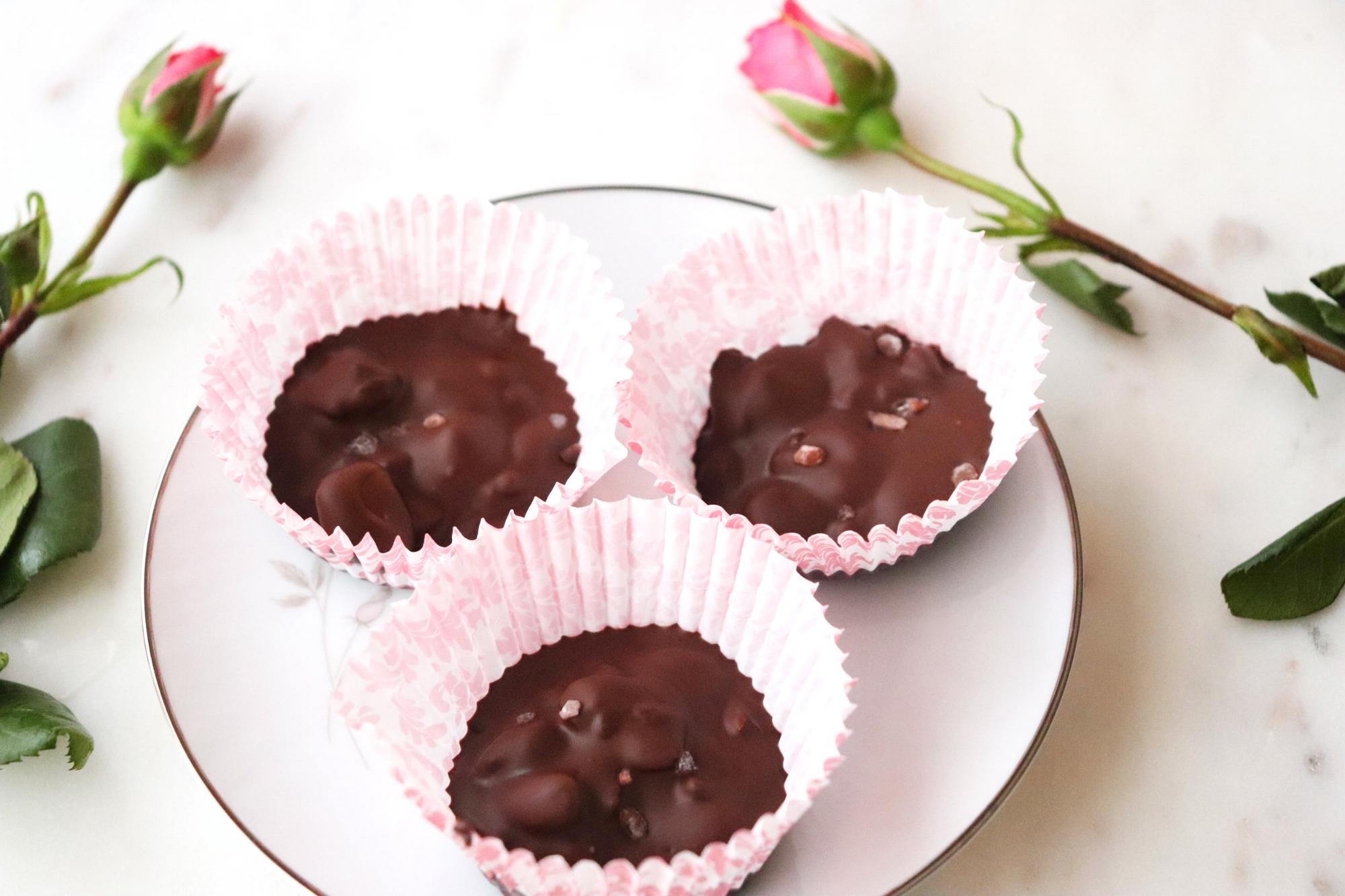 Dark Chocolate, Cherry and Pistachio Cups