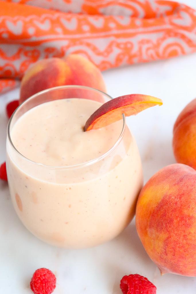 Peach Melba Smoothie