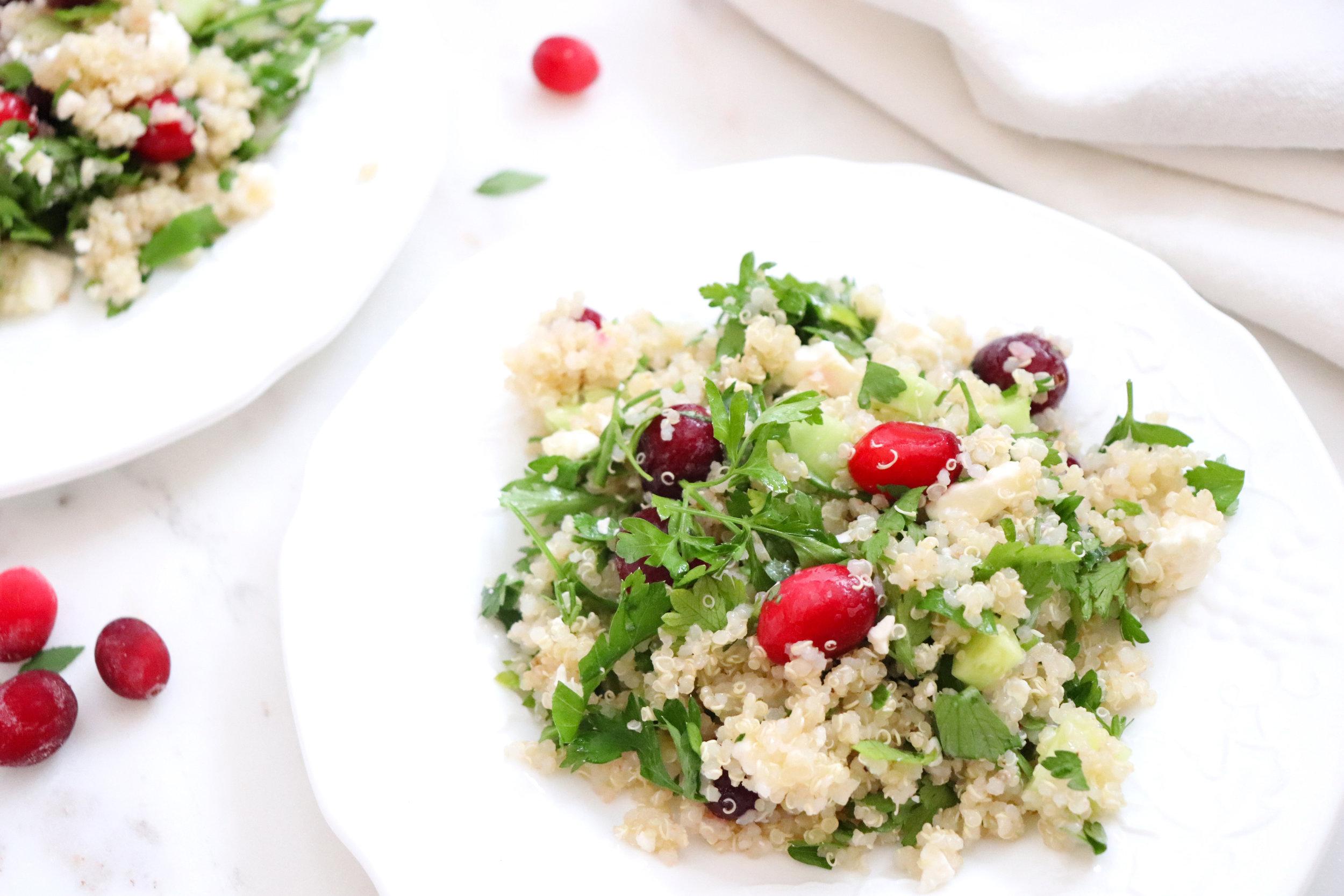 Cranberry Quinoa Tabbouleh Salad