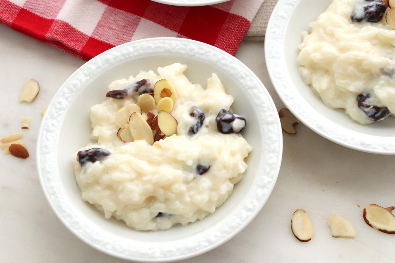 Cherry Almond Rice Pudding