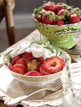 Strawberry & Rosemary Shortcake