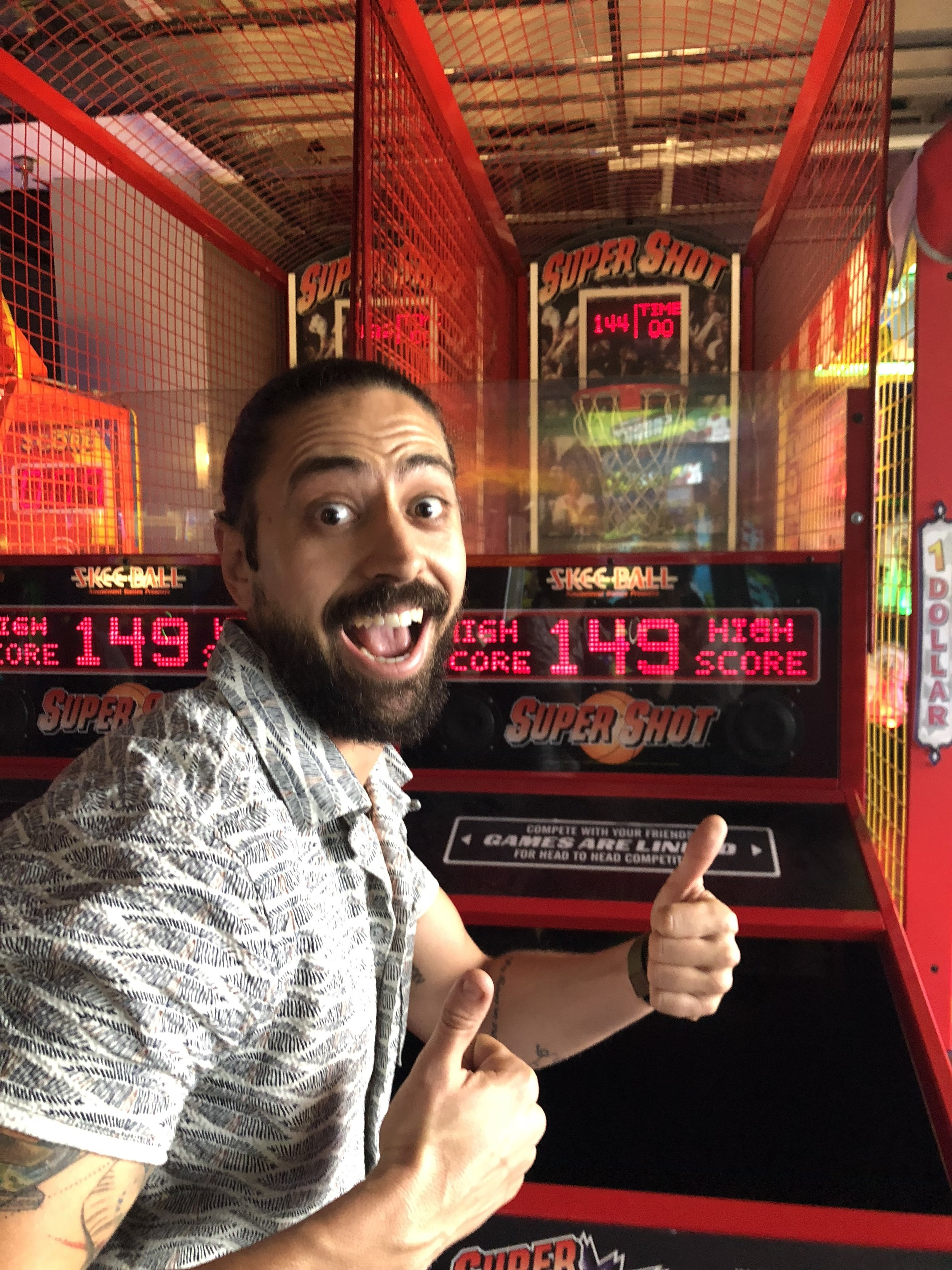 Zac Catanzaro, Super Shot High Score Winner, Drummer, Bearded Man