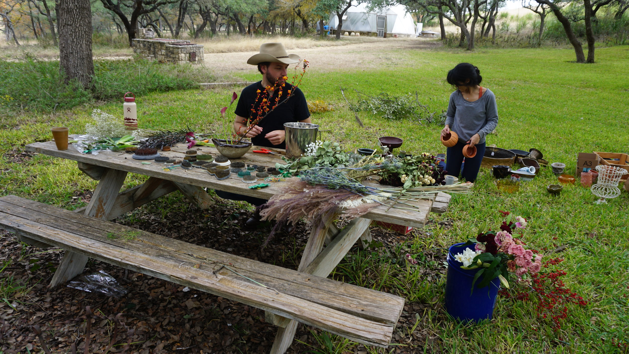 Michael Walker Arranging Ikebana