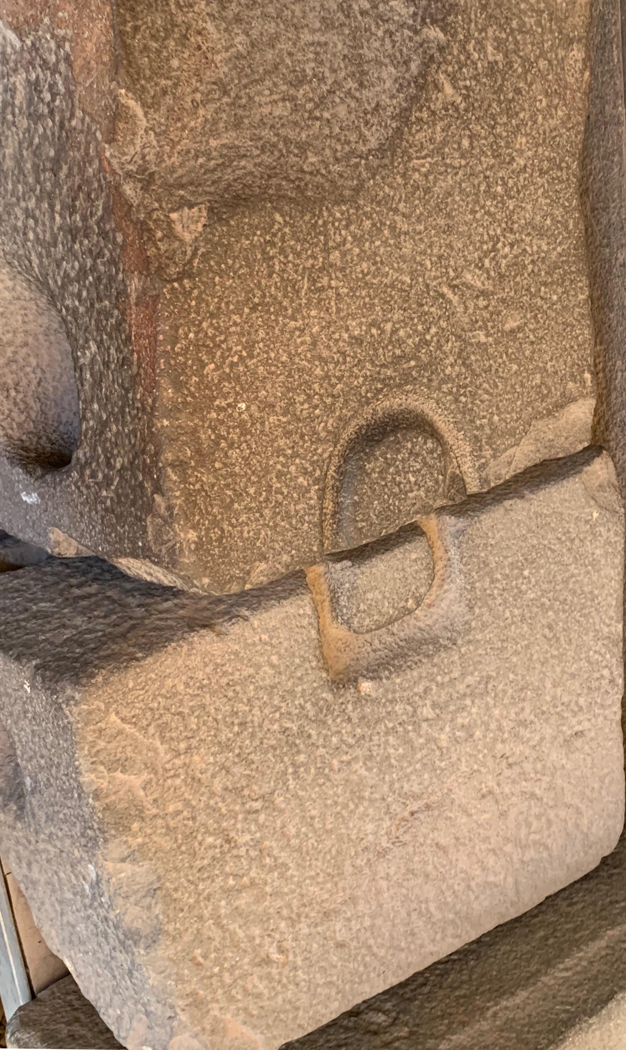 Inca stone locking technique at Qorikancha