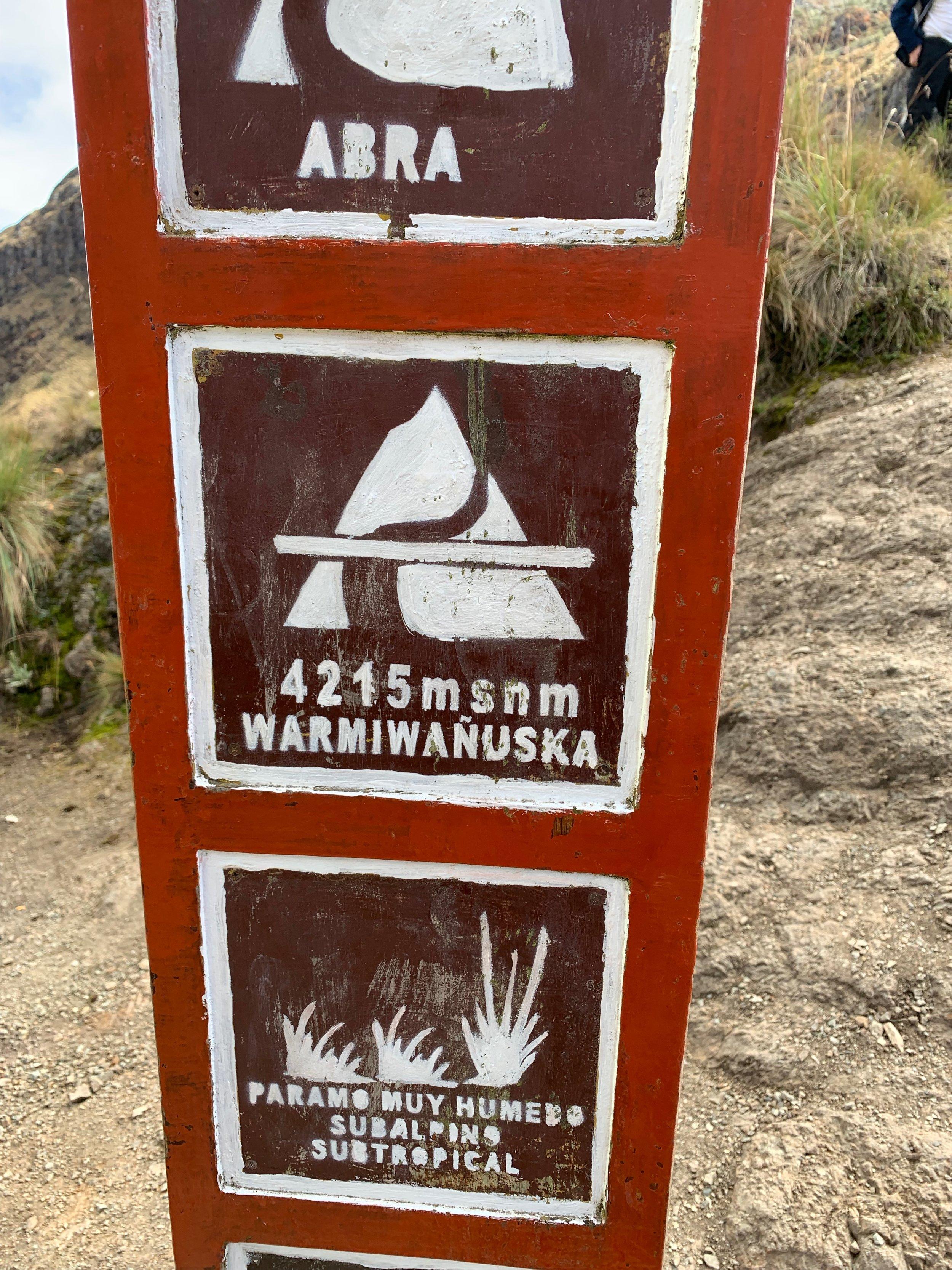 13,828 ft (4215 m)
