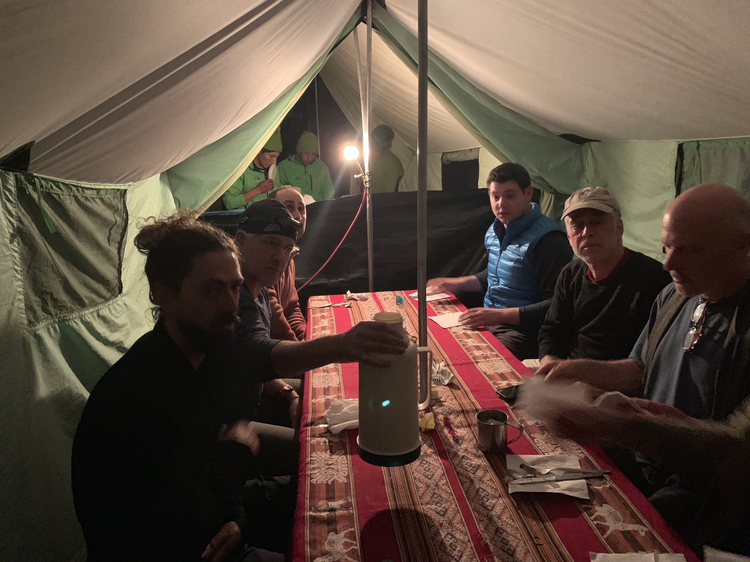 Our final dinner on the trail
