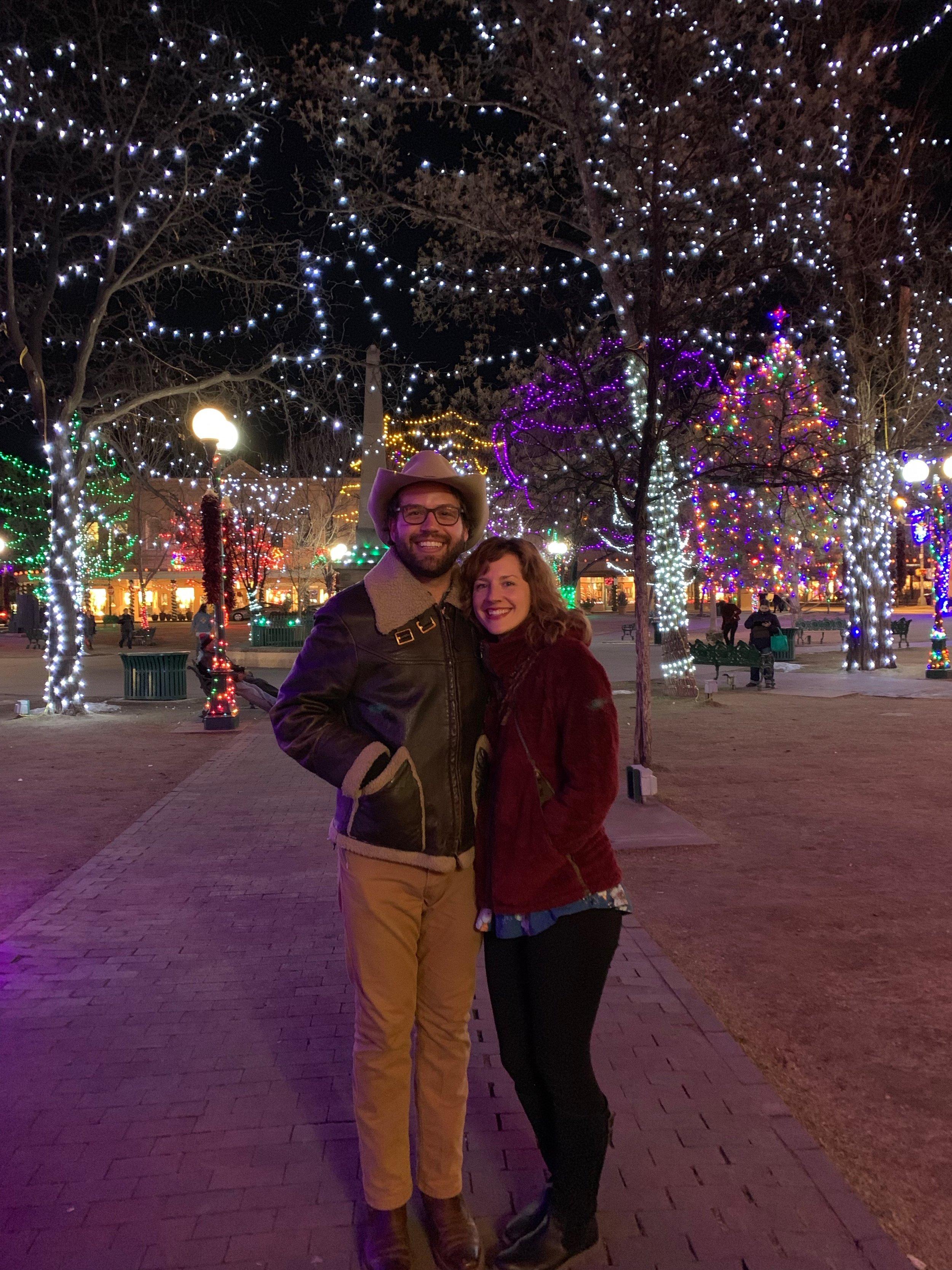 Sierra Skorka and Michael Walker in Santa Fe, NM