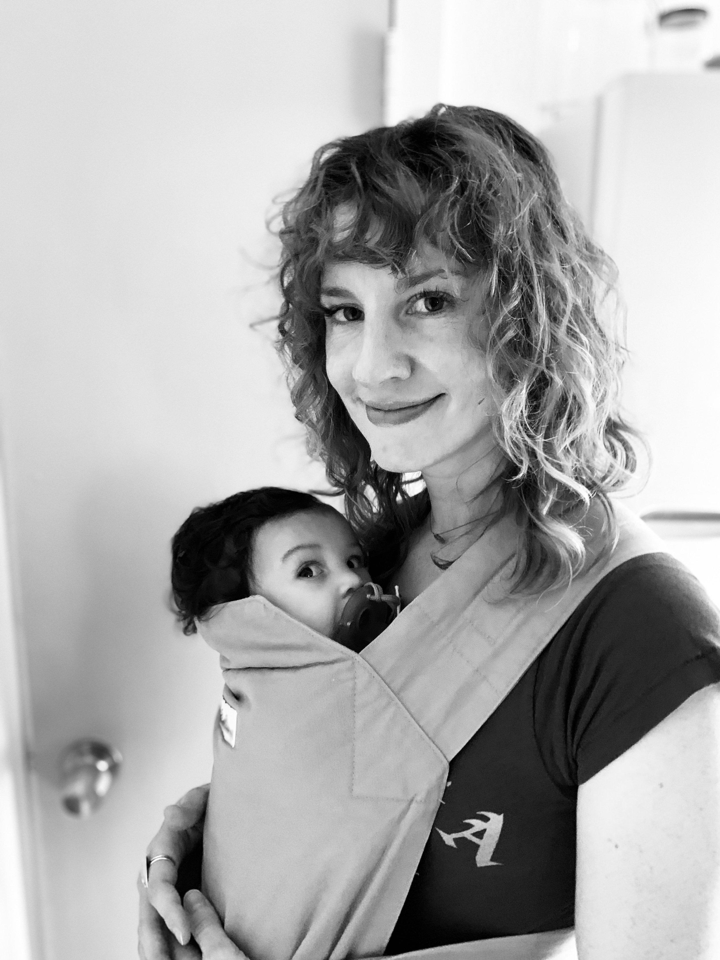 Sierra Skorka Holding Baby Naomia in Austin, TX