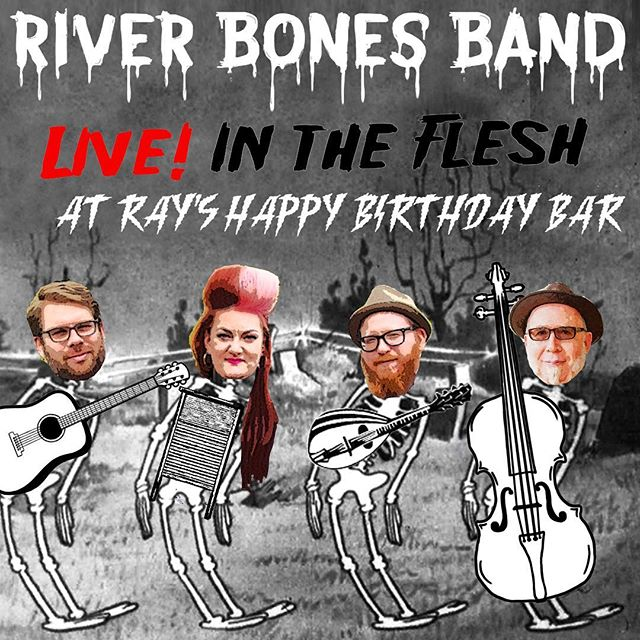 SURPRISE! We're playing our 3rd installment of dive bar bluegrass today from 3-5. You know where. Come get your freak on whether it's post-iggs game or post-that Halloween warehouse party you went to last night and haven't gone to bed yet. Hell, we won't judge you! @rayshappybirthdaybar #spookyscary #gobirds #skeletonbabesandwich