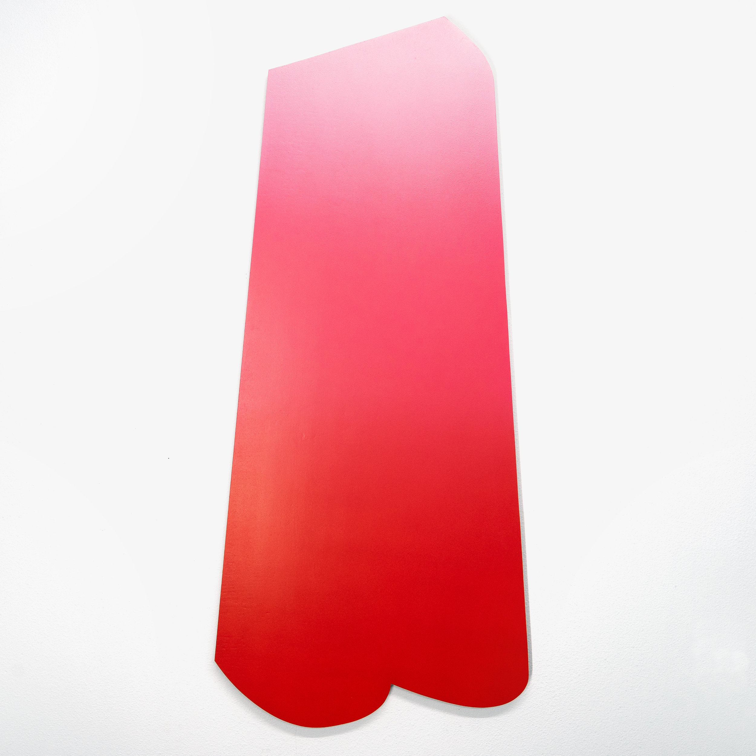 """Popsicle  2018. Airbrushed acrylic on plywood. 24""""w x 52""""h x 1d"""