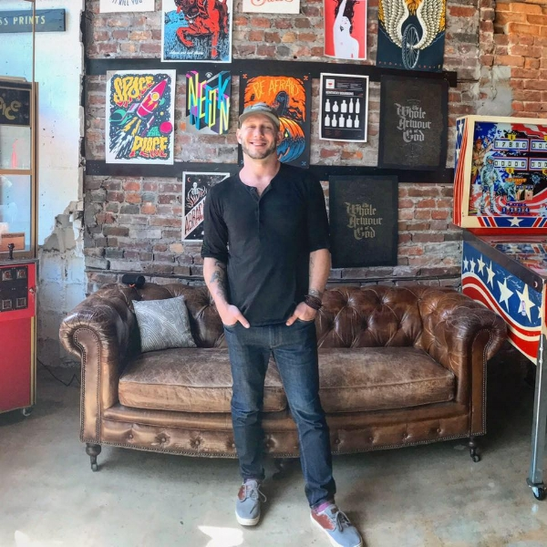 Jesse Scaccia at Prince Ink in downtown Norfolk.