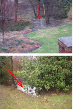 What our yard looked like before we planted a rain garden.