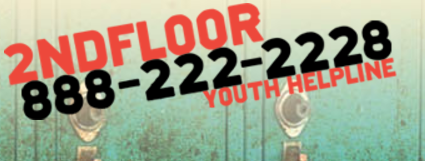 2nd Floor is a confidential helpline for youth and is available 24-7.
