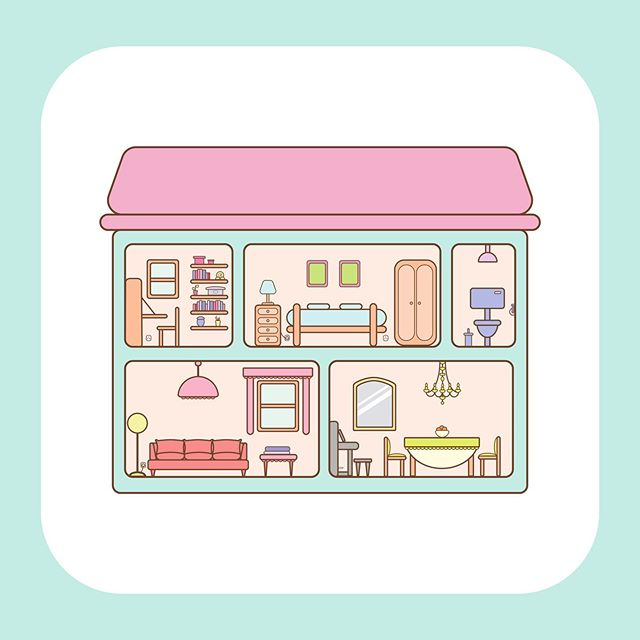 Bubblegum House  #dollhouse #kawaiiart #pastelaesthetic #cuteart #illustrationoftheday #manga #animalcrossing #kawaiihomedesign #cutearchitecture #kawaii #pastelcolors #miniatures #artforchildren #cutehome #jothemonster #pastelillustration #surfaceproart #illustratorsoninstagram #cute #bubblegum