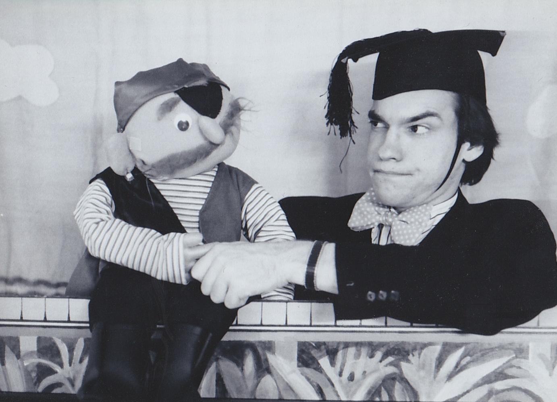 David and a pirate friend, circa 1983.