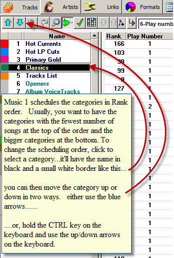 Category Scheduling Order