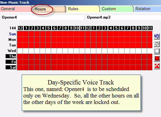 Day-Restricted Voice Tracks1