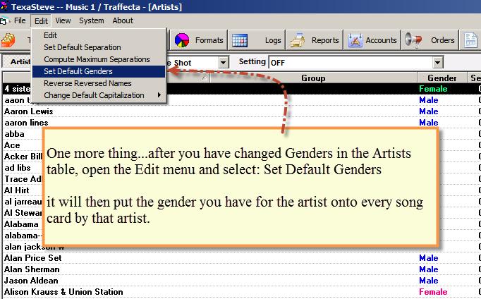 Set Default Genders 3