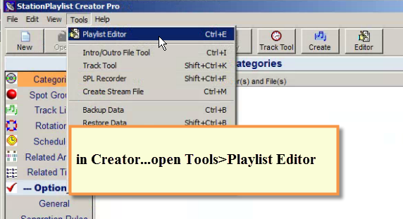SPS - Creator Tools Menu