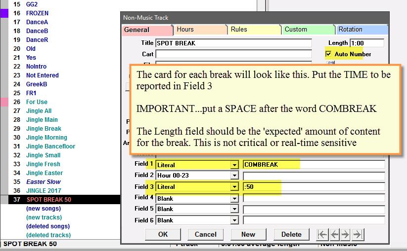 Screenshot of an Auto-Numbered Spot Break unit for Jazler