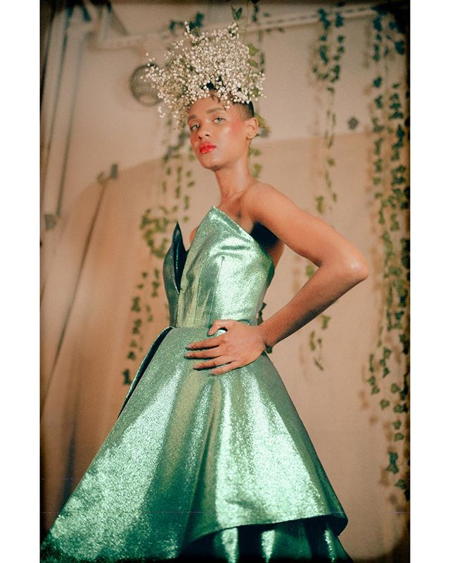 Mecca on 35mm  Gown @daisylopezdesigns  HMUA @crystal__carrero