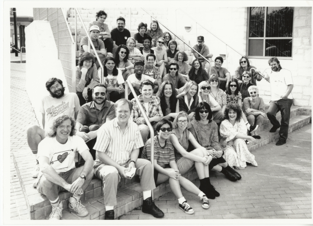 The first South By Crew, which helped countless creatives come together for a festival that has only grown and evolved in scope and cultural relevance. Check out more history at  SxSW .