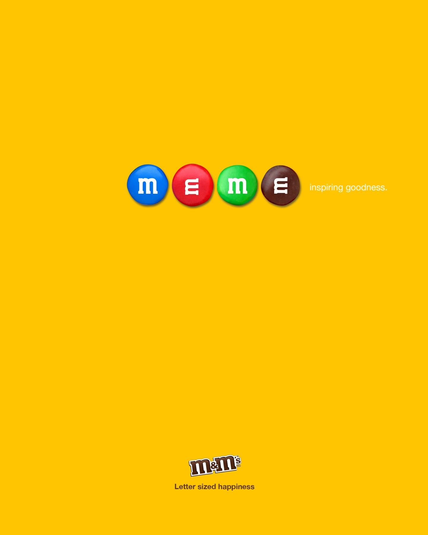 2013 print ad for M&Ms