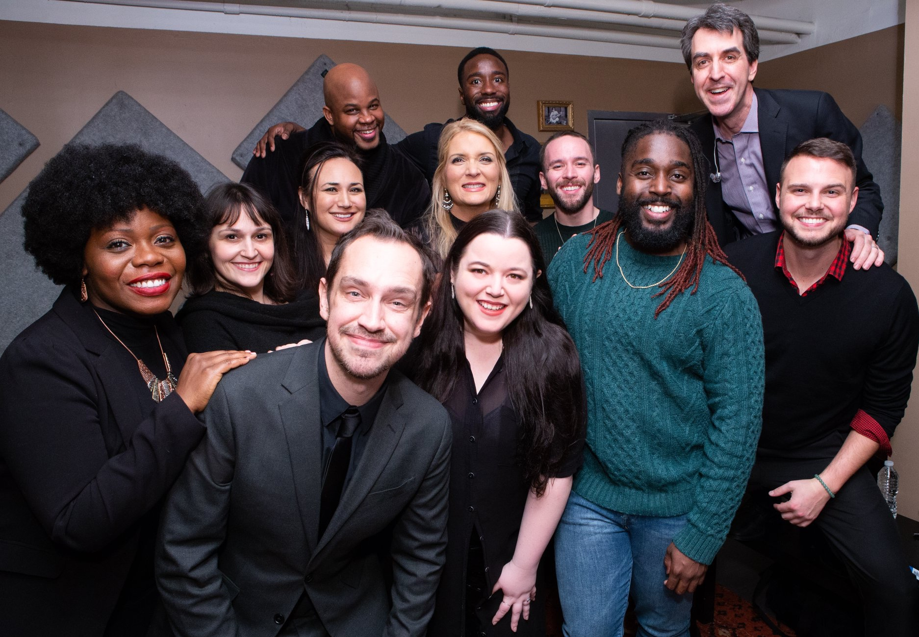 Backstage at SubCulture with Jason Robert Brown and Mykal Kilgore