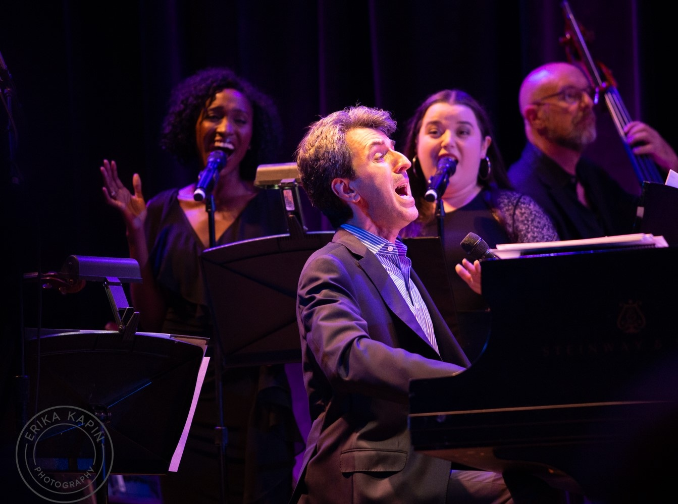On stage with Jason Robert Brown at Town Hall