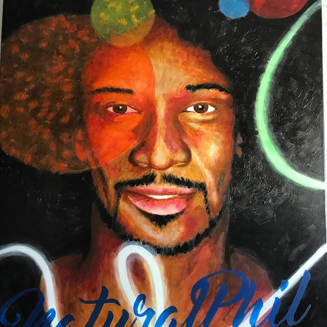 Honored to be hand painted by Mr Bruce Beckner. Go check out more of his amazing paintings at BecknerArt.com 🔥🔥🔥💯