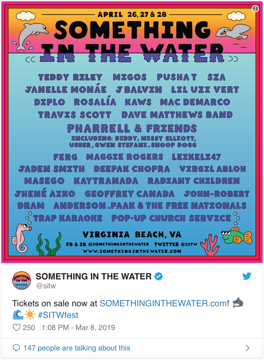 Something In The Water Music Festival Lineup