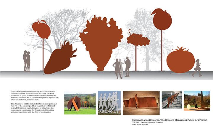 Bracero Monument   Proposal ;  Los Angeles, CA 2017