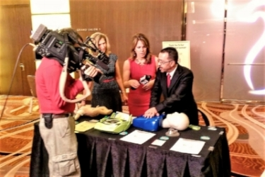 AHA's Go Red Event Hands-Only-CPR