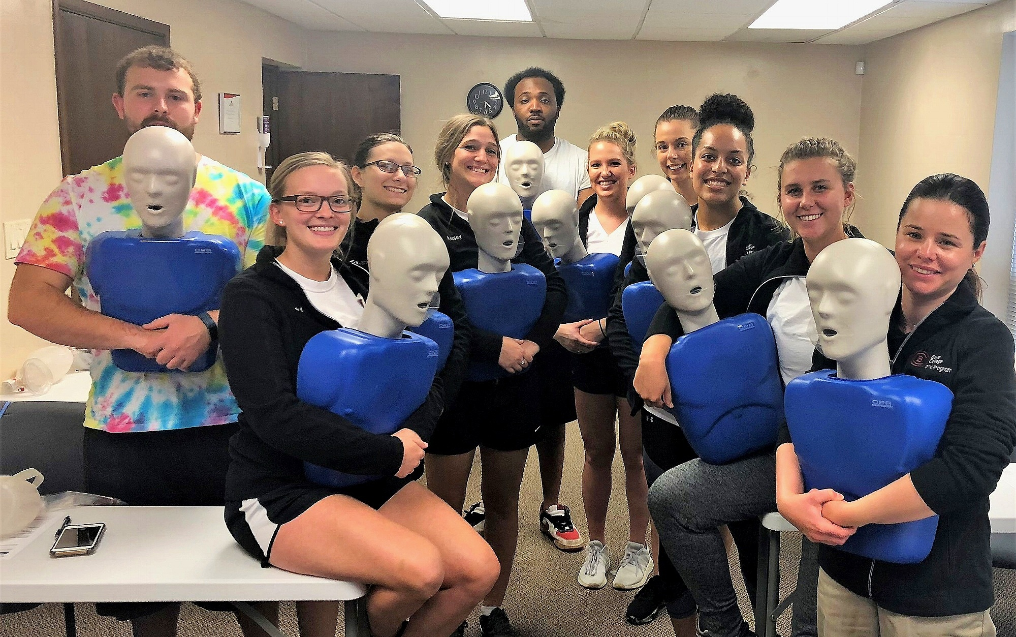 Physical Therapy students enjoy a BLS course
