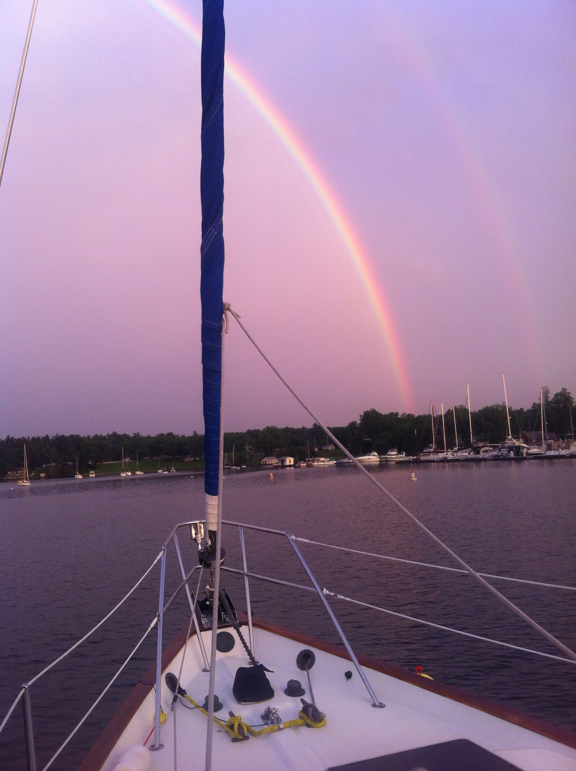 Rainbow over Malletts Bay, Lake Champlain, Vermont