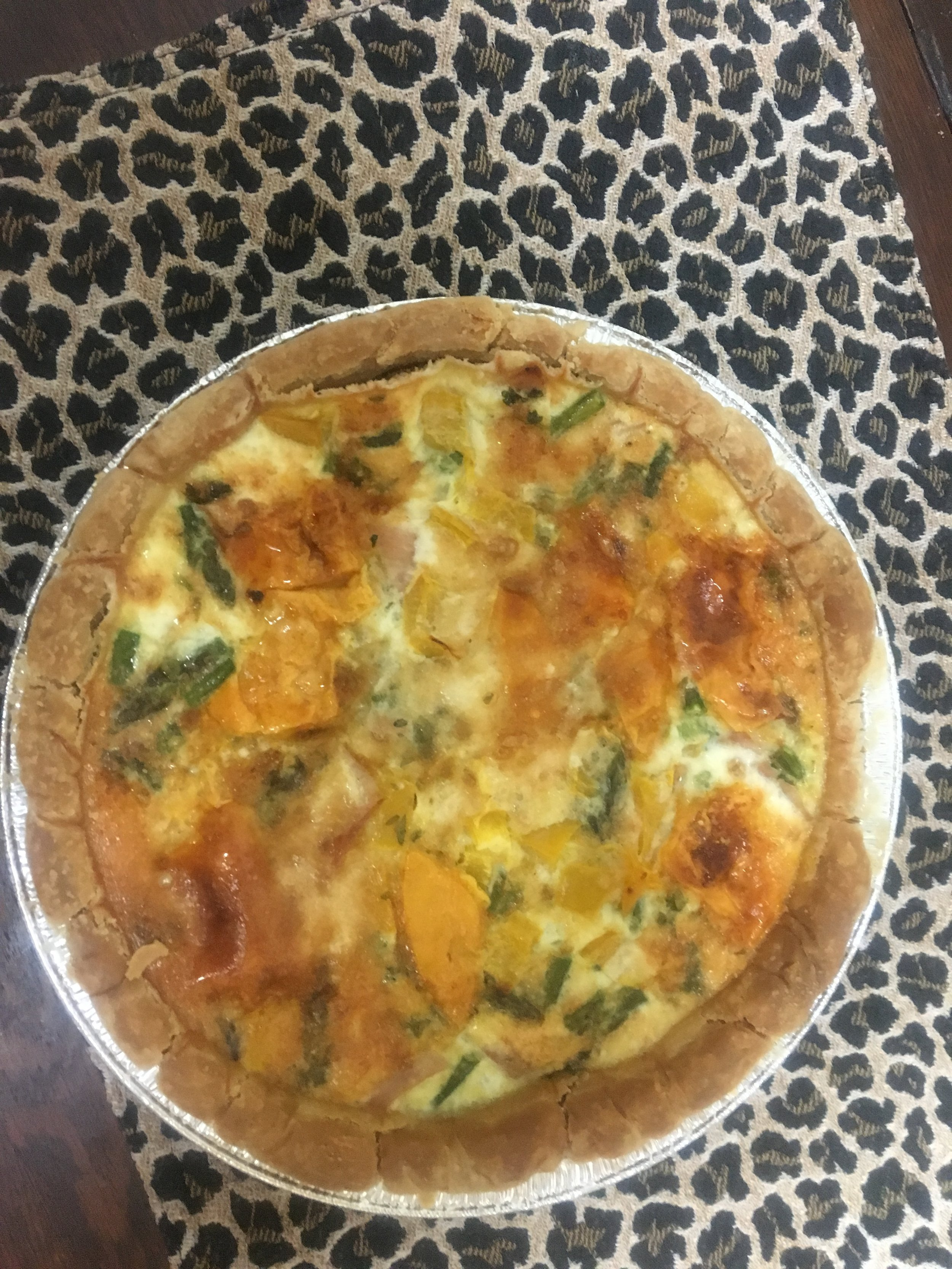 Enjoy a delicious quiche on a breakfast sail