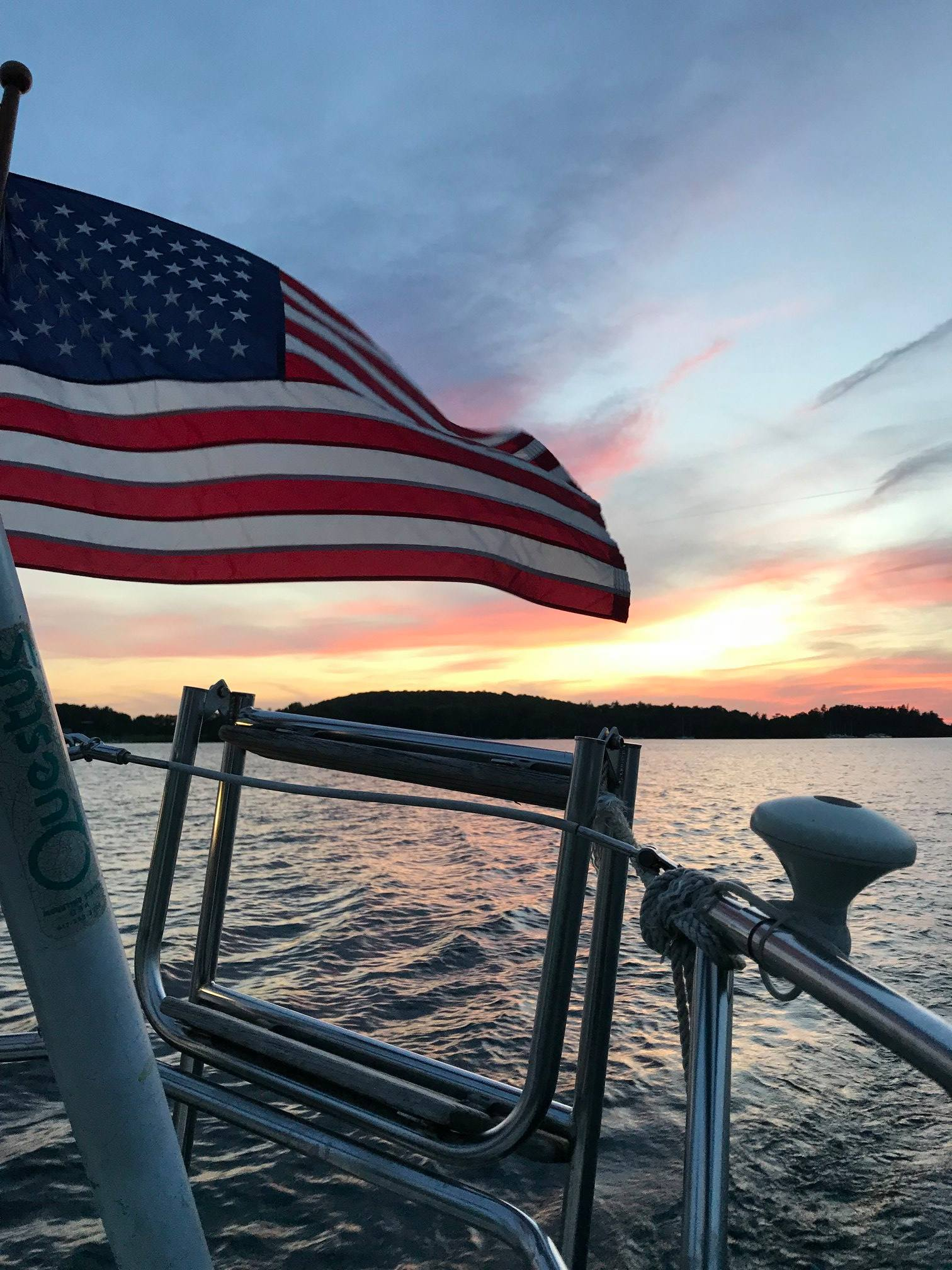 Sunset sail in Malletts Bay, Lake Champlain cruise Vermont
