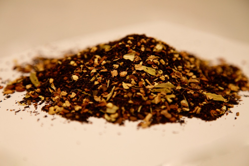 Hand-ground masala chai - We join organic Indian Assam tea with hand picked and hand ground spices of fancy green cardamom, ginger, two types of cinnamon, fresh ground pepper and pink Himalayan sea salt for a robust, yet approachable flavor.Shop our Organic Masala Chai Tea