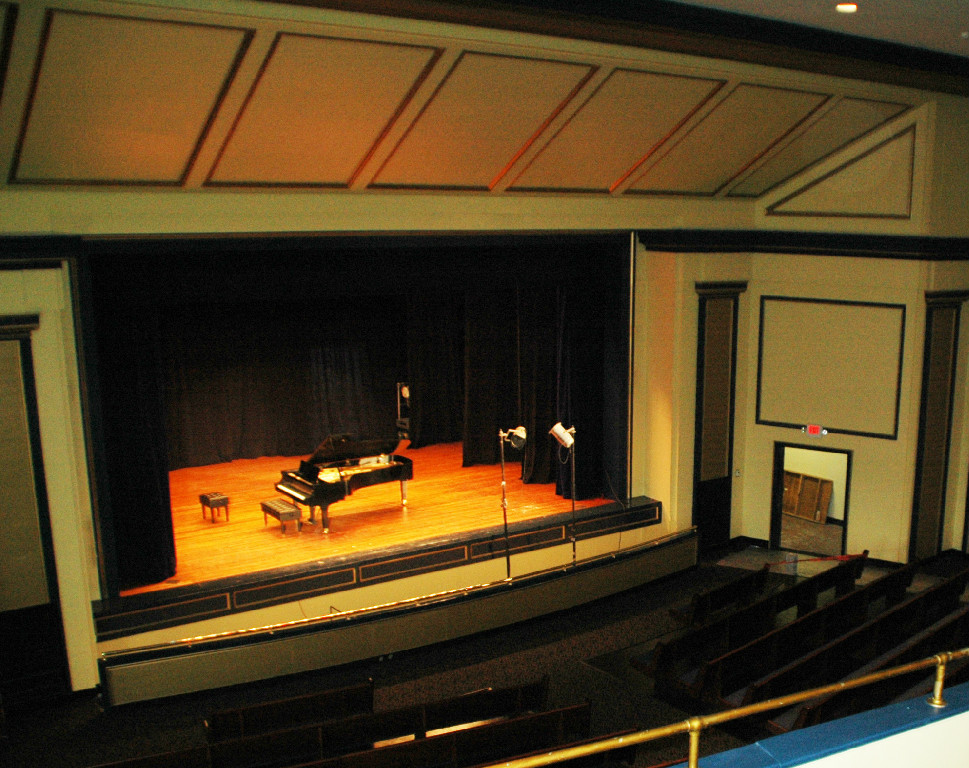 The Baldwin Concert Grand Piano donated to the City of Chattanooga by the Chattanooga Music Club for use in the Robert Kirk Walker Community Theatre.