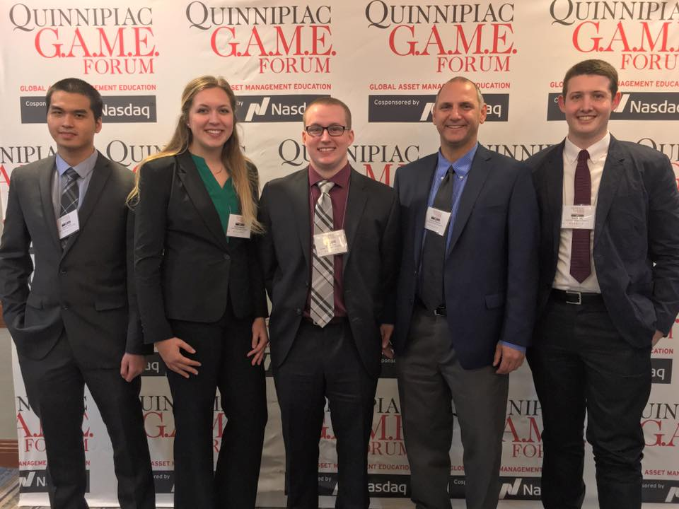 CWU Investment Group Members at the GAME Forum financial conferfence in New York City.