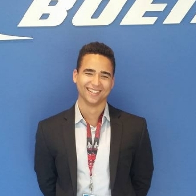 Grant at the Boeing Case Competition.