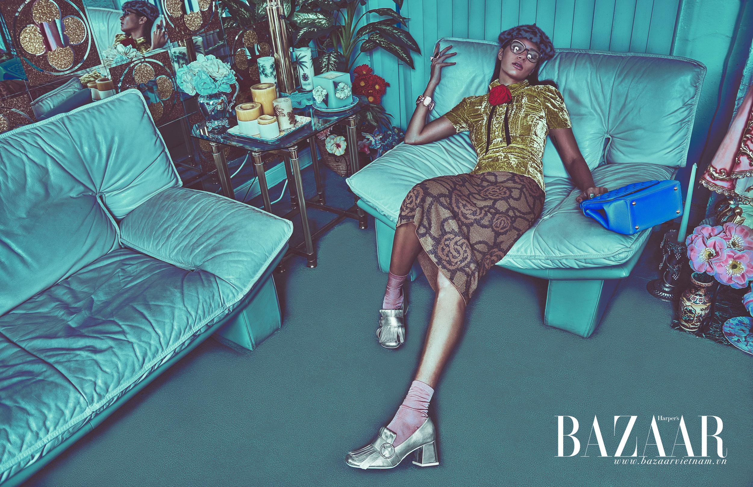 Harper's Bazaar x GUCCI SS16 - Advertorial