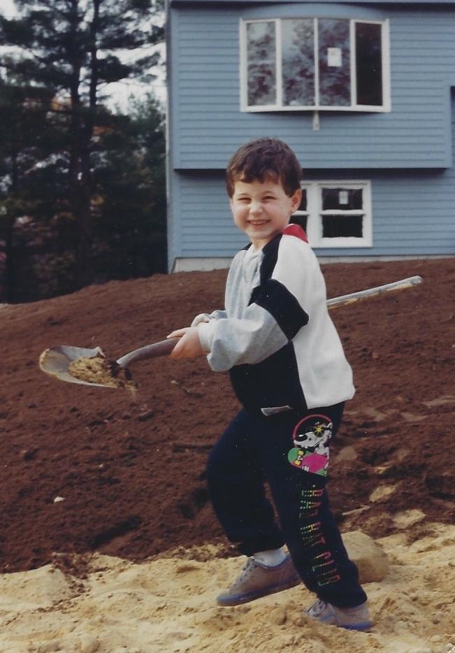 Jay shoveling away in 1991