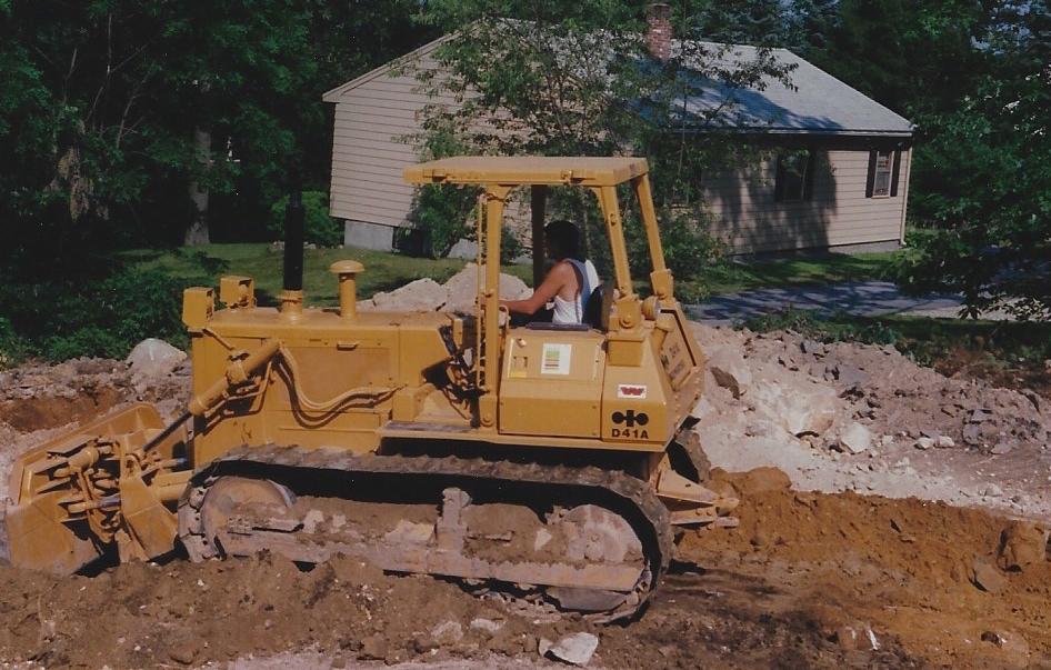 Joe in bulldozer in 1988