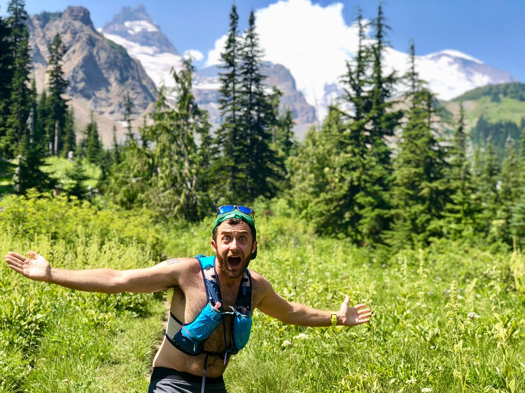 On a run at Rainier…and being silly as always