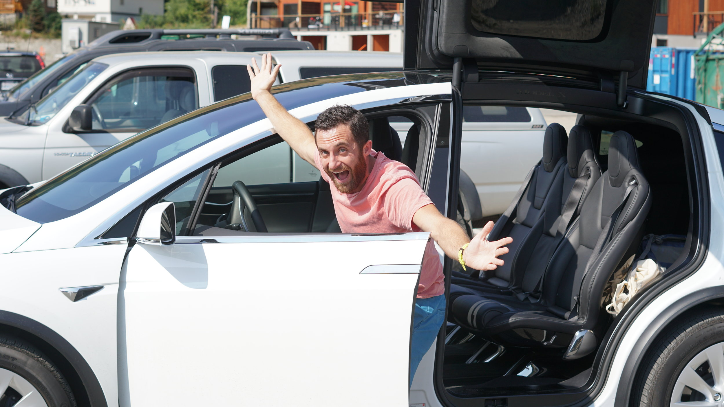 I've been a fan-boy of Tesla for a while. A few years ago, I rented a Model X off of  Turo  for a day. It was awesome, minus a certain  Falcon door incident  with Dad.