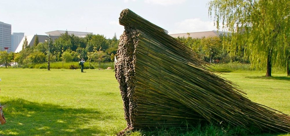 Olga Ziemska -  olgaziemska.com   Olga Ziemska is a Polish artist exploring the concepts of mother and place in her 2003 series  Matka that used native and locally harvested trees to create feminine sculptures